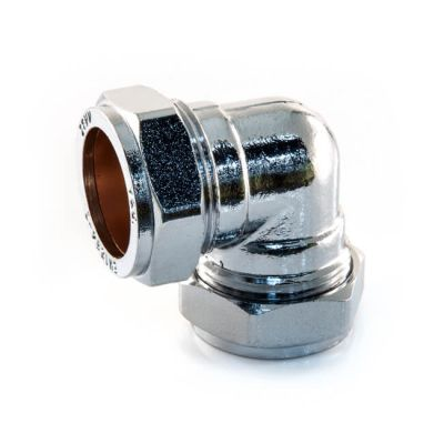 Chrome Plated Compression Elbow - 28mm