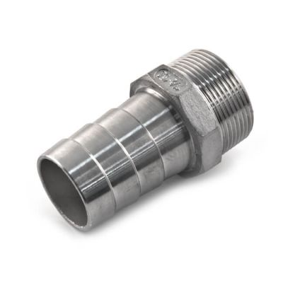 "Screwed Stainless Steel Hose Tail Adaptor 2"" BSP TM"
