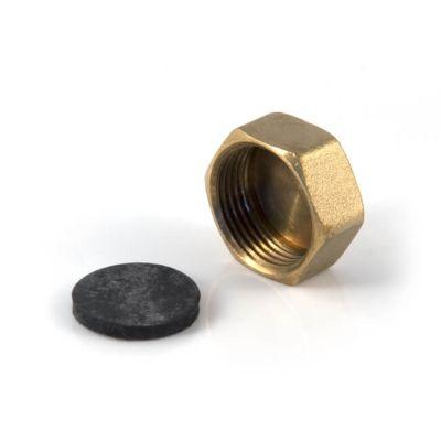 "Brass Threaded Stop Cap & Washer 3/4"" BSP P to BS 2779"