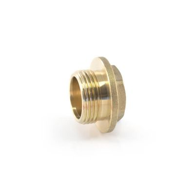 Brass Threaded Flanged Plug with Undercut - 3/4""