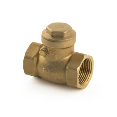 "Water Swing Check Valve - Brass 3/4"" BSP"