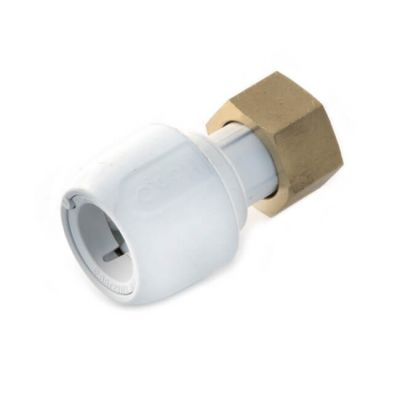 "Hep2O® Straight Tap Connector - 3/4"" x 22mm White"