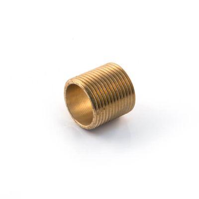 """Brass Threaded Running Nipple - 3/8"""" BSP P"""