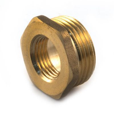 """Brass Threaded Hexagon Bush 3/8"""" BSP PM x 1/8"""" BSP PF"""