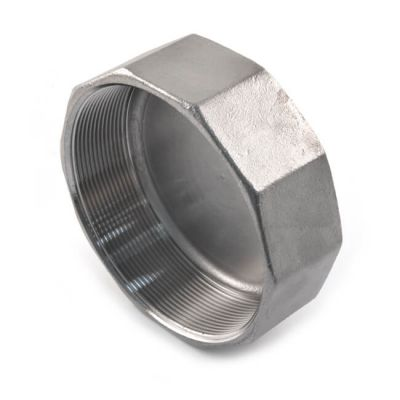 Screwed Stainless Steel Hexagon Blanking Cap - 3""