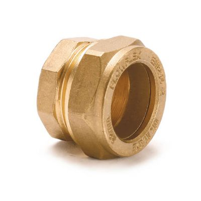 Stop End UK Compression Brass - 4mm