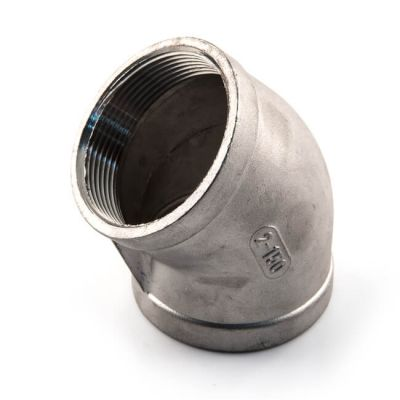 """Screwed Stainless Steel 45° Elbow - 4"""" BSP"""