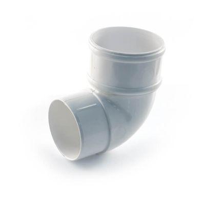 68 mm - 92.1/2° Offset Bend - Half Round - White