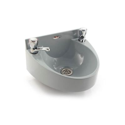 Basin With Domehead Tap - Grey