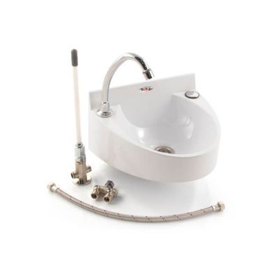 Basin With 'Hands Free' Spout & Knee Operated Valve