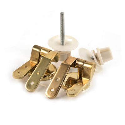 Pair of Toilet Seat Hinges - Brass