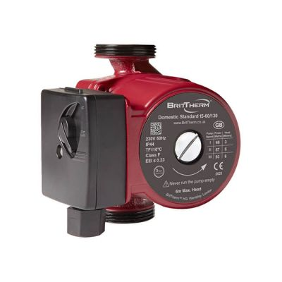 BritTherm™ DS15 15-60/130 Domestic Central Heating Circulator Pump
