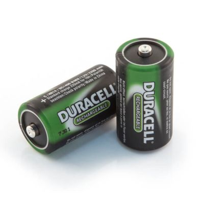 C - Duracell NiMH Rechargeable Batteries - Pack of 2