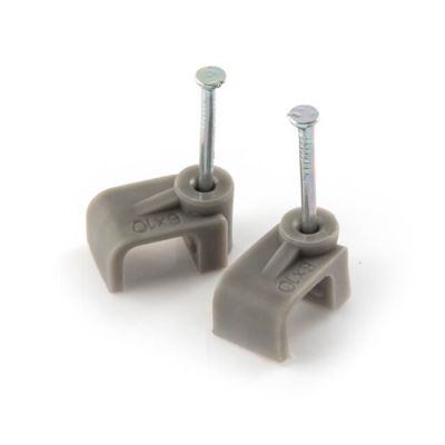 Cable Clips 2.5 mm² Twin & Earth Grey