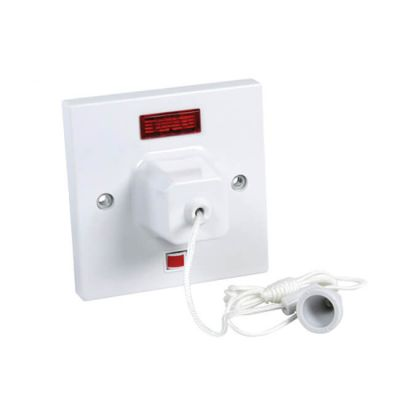 Ceiling Switch - 45A, Double Pole, 1 Way with Neon