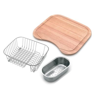 Sink Colander, Basket & Board - One and Half Bowl