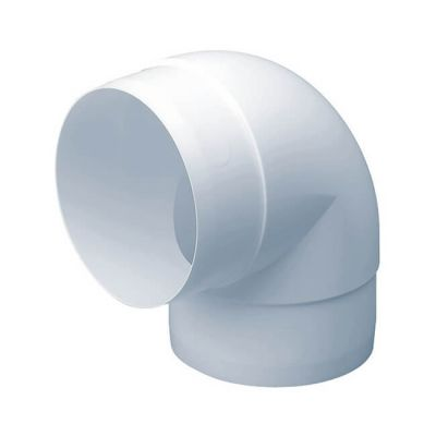 Domus 90° Ducting Bend - 125mm White