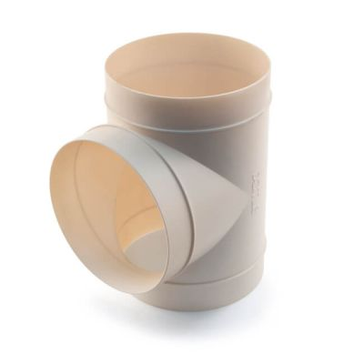 Domus Round Equal Tee - 150mm White
