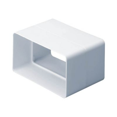 Domus System 100 Flat Channel Connector White