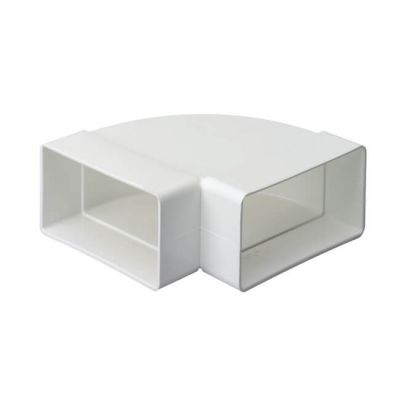 Domus System 100 Horizontal 90° Bend - White