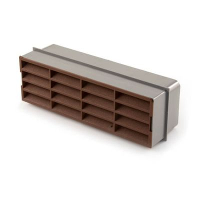 Domus Horizontal Louvred Airbrick - 210 x 65mm Brown