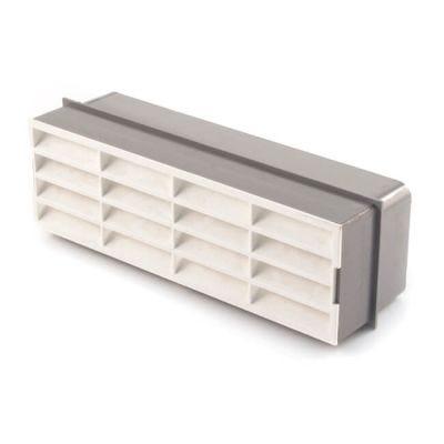 Domus Horizontal Louvred Airbrick - 210 x 65mm White