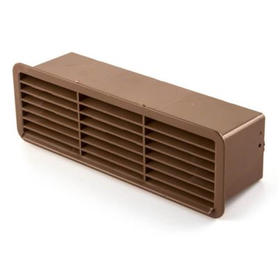 Horizontal Louvred Airbrick & Damper 200 x 56mm Brown