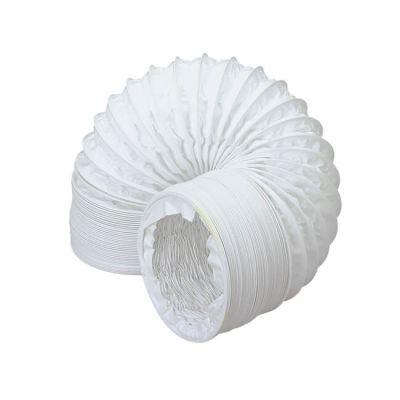 Domus Round Flexible Hose PVC - 1m x 100mm White