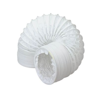Domus Round Flexible Hose PVC - 3m x 100mm White