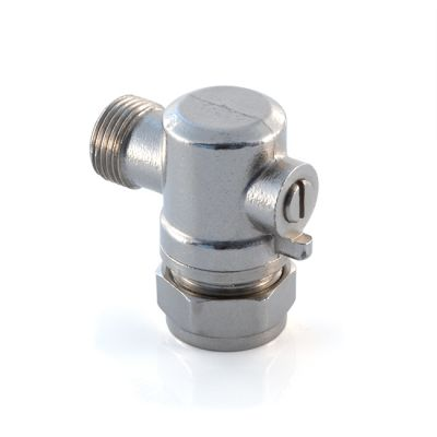 "Flat Faced Angled Isolation Valve 15mm x 3/8"" BSP PM"