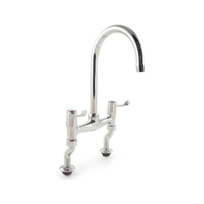 'H' Sink Mixer Tap Quarter Turn Lever Handles - Chrome