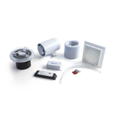 In-line Axial Fan, Timer & LED Light Kit - Chrome