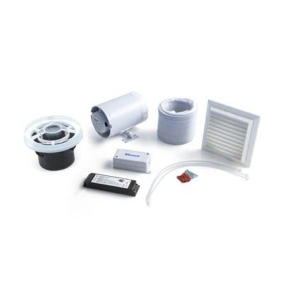 In-line Axial Fan, Timer & LED Light Kit - White