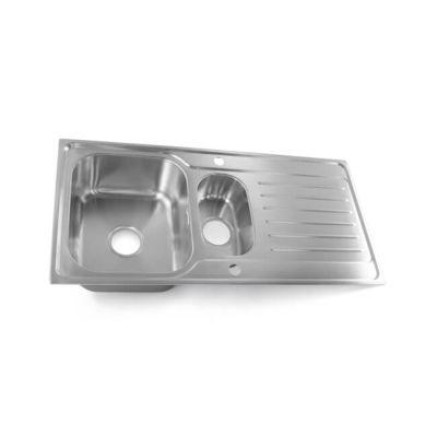 Large One & Half Bowl & Drainer Kitchen Sink
