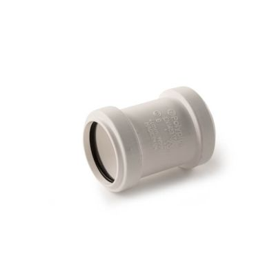 Push-fit Straight Coupling - 32mm White
