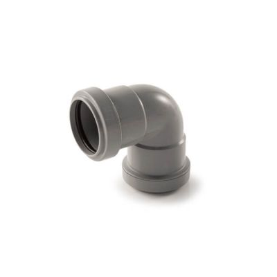 Push-fit Knuckle Bend - 90° x 50mm Grey