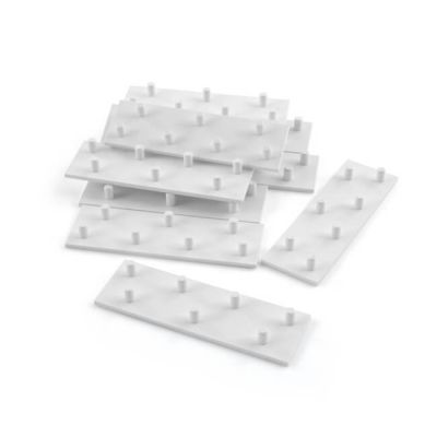 Underfloor Pipe Clip Base Plate (PVC) - Pack of 10