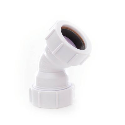 Universal Obtuse Bend - 45° x 32mm White