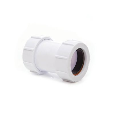 Universal Straight Connector - 32mm White