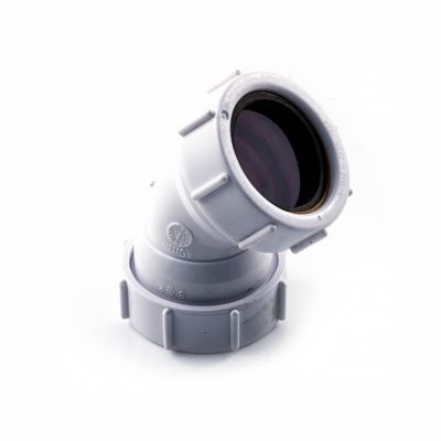 Universal Obtuse Bend - 45° x 40mm White