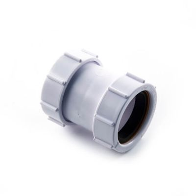 Universal Straight Connector - 40mm White