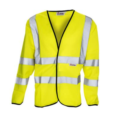 Hi Vis Reflective Long Sleeved Waistcoat - Large