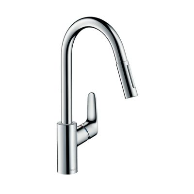 Hansgrohe Focus 240 Lever Tap with Pull-out Spray