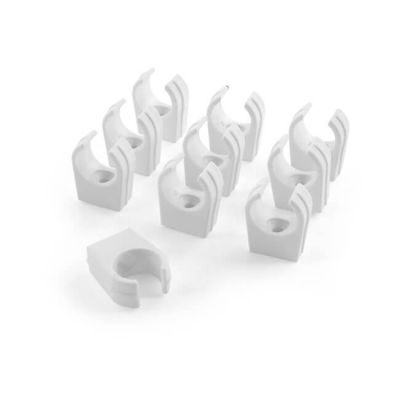 Solvent Weld Pipe Clip 22 mm clips (ABS), Pack of 10