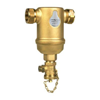 SpiroVent® Horizontal Dirt separator 22mm Compression