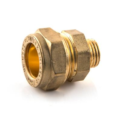 Straight Adaptor UK Compression - 15mm x 1/4""
