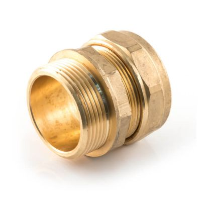 Straight Adaptor UK Compression - 15mm x 3/4""