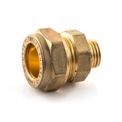 Straight Adaptor UK Compression - 15mm x 3/8""