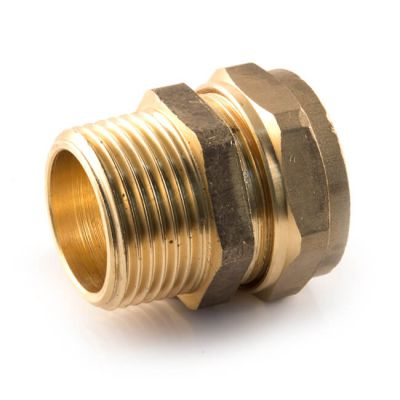 Straight Adaptor UK Compression - 22mm x 1""