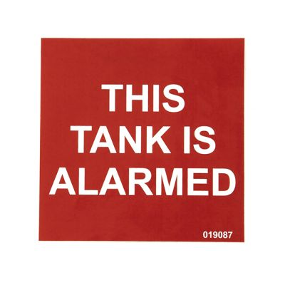 Tank Alarmed Warning Label